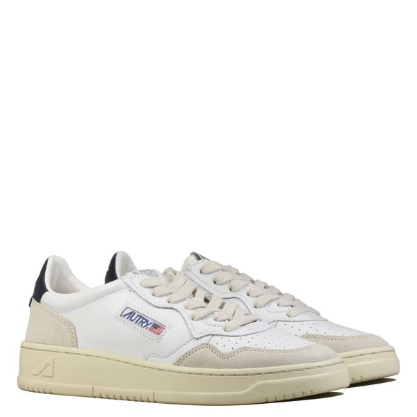 Autry - Sneakers en cuir et suède Navy et Blanche