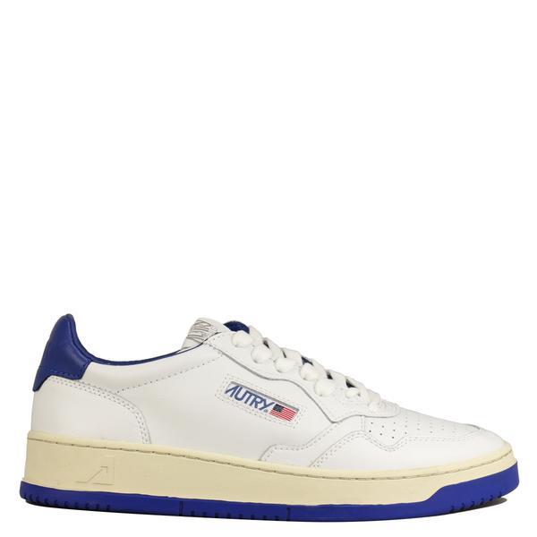 Autry - Sneakers en cuir Bicolore Blanche et Bleu